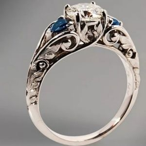 New Women's Antique Sterling Silver Luxury Ring
